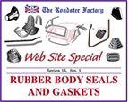 Graphic for rubber seals , gaskets, and grommets on sale for Triumph and MGB